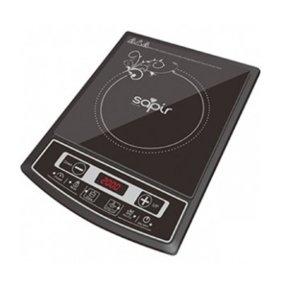 Индукционен котлон Sapir SP 1445 LG, LED дисплей, Мощност 2000W, Черен